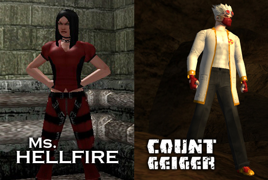 Ms. Hellfire and Count Geiger